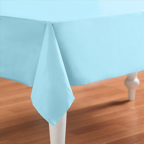 Pastel Baby Blue Rectangle Plastic Table Cover