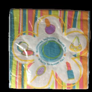 Pamper party make up theme napkins