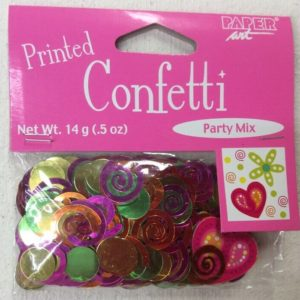 confetti Heart and swirl