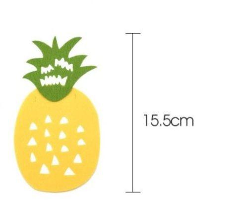 Felt Pineapple for tropical garland