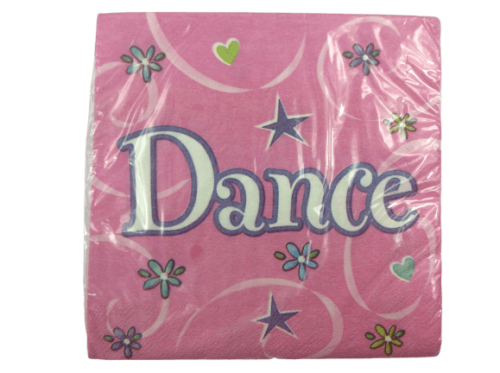 Pink dance party napkins