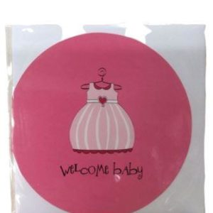 Baby Shower Pink Dress Greeting Card