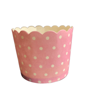 pink polka dot baby shower paper baking cups