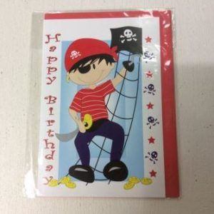 Pirate Happy Birthday Greeting Card