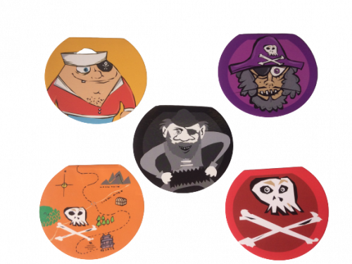 pirate face notepads
