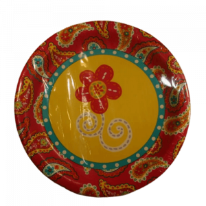 Summer Paisley yellow dinner plate