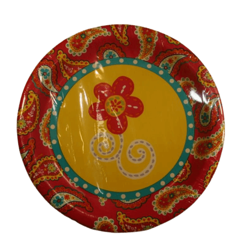 Summer Paisley yellow dinner plate