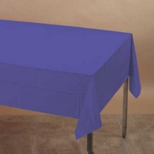 Dark Purple Rectangle Plastic Table Cover