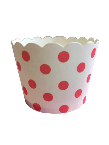 Red spot baking cups