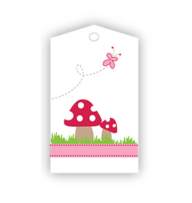 Mushrooms Garden party Gift Tags