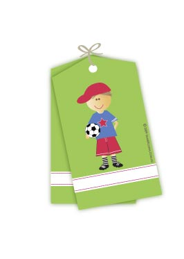 Soccer Boy Gift Tags