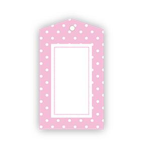 Baby Pink Polka dot Gift Tags