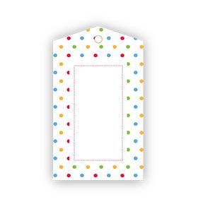 Rainbow Polka dot Gift Tags