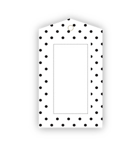 Black Polka dot Gift Tags