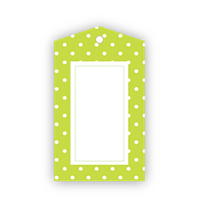 Green Polka dot Gift Tags