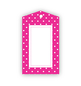 Hot Pink Polka dot Gift Tags