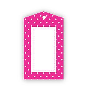 Hot Pink Polka dot Gift Tags