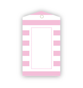 Pink Striped Gift Tags