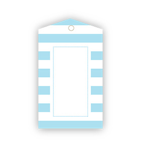 Baby Blue Striped Gift Tags