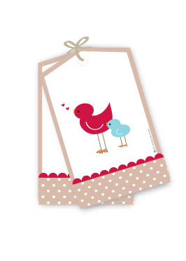Singing Birds Baby Shower Gift Tags