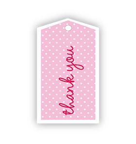 Pink Polka dot Thank you Gift Tags