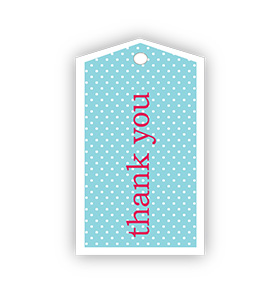 Blue Polka dot Thank you Gift Tags