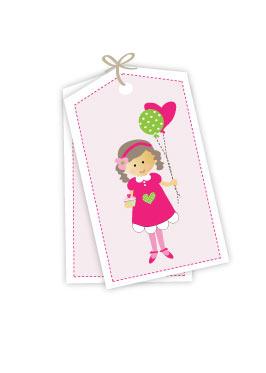 Cupcake Girl Gift Tags