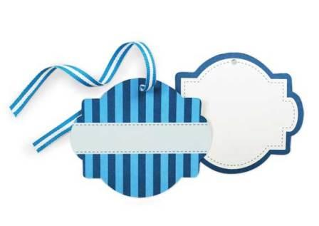 Blue striped gift tags