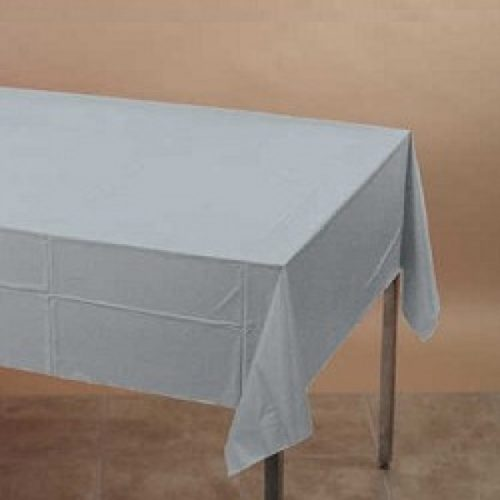 Silver Rectangle Plastic Table Cover