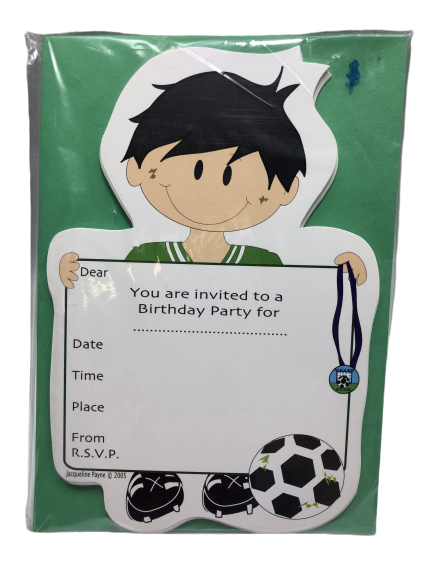 Soccer football party invitations