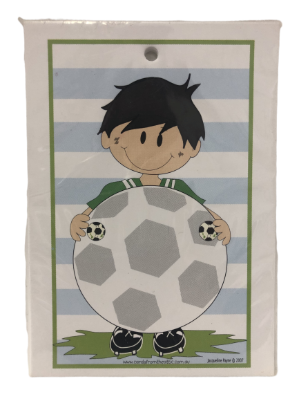 Soccer football party gift tags