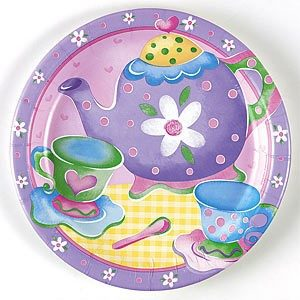 Tea Party Round Dinner Plate