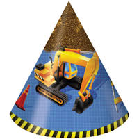 Under Construction Big Machine Party Hats