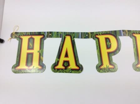 Jungle Animals Wild One Happy Birthday Jointed Banner