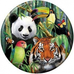 Wild One Real Jungle Animals Round Paper Plates