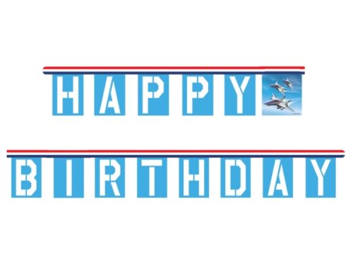 Jet Fighter Pilot Happy Birthday Jointed Banner