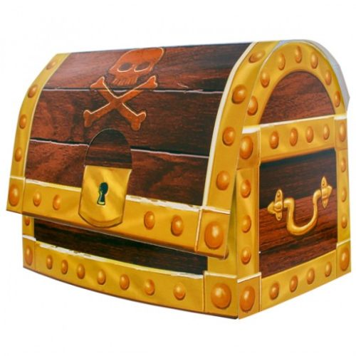 Pirate Treasure Chest Stand Up Centre Piece