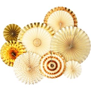 Gold Paper Fans