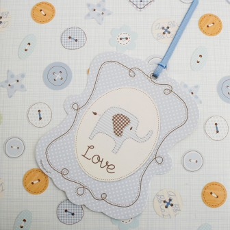 Baby Shower Blue Elephant Special Delivery Gift Tag