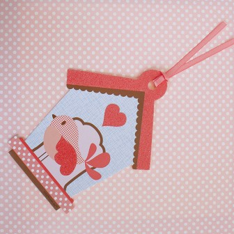 Little People Bird in House Gift Tag