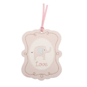 Baby Shower Pink Elephant Special Delivery Gift Tag