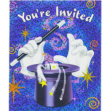 Hocus Pocus Magic Party Invitations