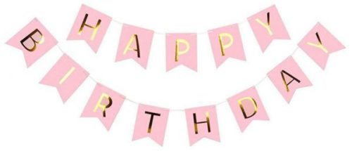 Pink Happy Birthday Bunting