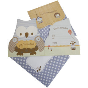 Baby Shower Birthday Owl Invitations