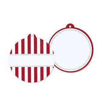 Candy Cane red striped tags