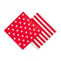 Red Star and stripe space napkins