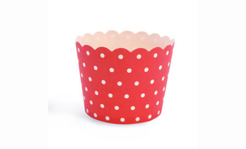 Cherry Red Polka Dot Spots baking cups