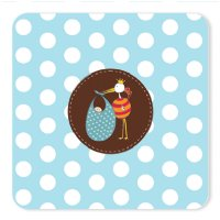 Stork Baby Shower thank you cards