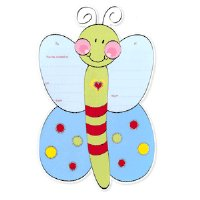 Butterfly Candy Wings Birthday Party Invitations