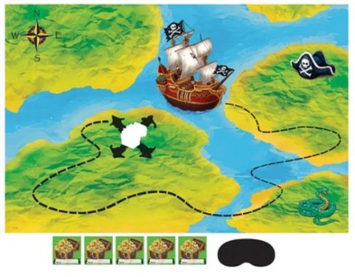 Pirate Birthday Party Buried Treasure Map Pin Game